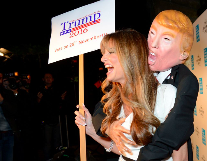 With Khan's amazing costume already scaring us all, we should probably prepare to see many more celebrities dress up as the Trumps this Halloween.