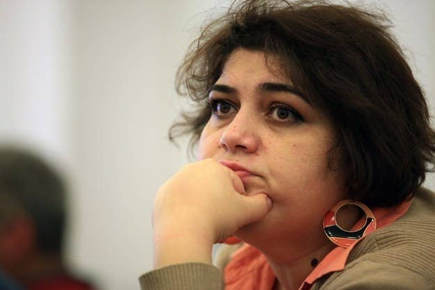 The Azeri journalist Khadija Ismayilova, who spent much of the last two years in jail.