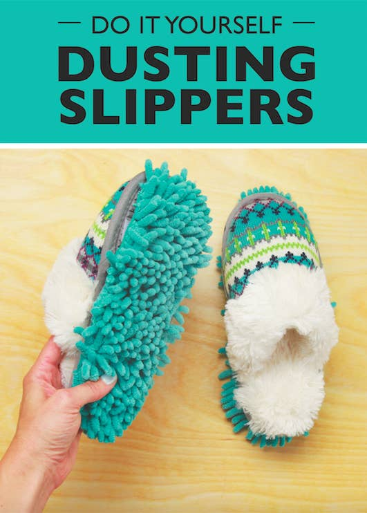 Get Cozy And Dust The Floors With These DIY Dusting Slippers