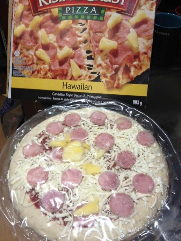 Haters might think Hawaiian pizza is a crime against humanity but THIS is a crime against humanity.
