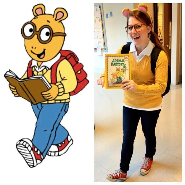 u0026quot;I created this Arthur the Aardvark costume using things I already had in my  sc 1 st  BuzzFeed & 43 Halloween Costumes You Can Make For Under $20