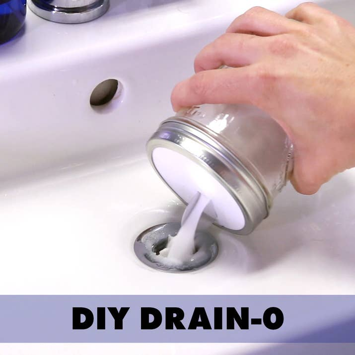 Clogged Sink Fix It In No Time With This DIY DrainO - How to fix a clogged bathroom sink