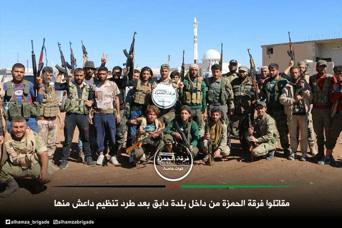 Fighters from the Hamza battalion.