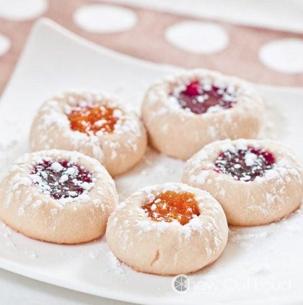 Buttery Jam Thumbprint Cookies