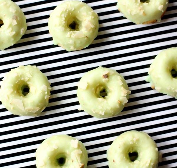 Mini Pistachio Almond Doughnuts