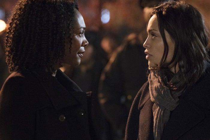 Simone Missick and Rosario Dawson in Luke Cage.