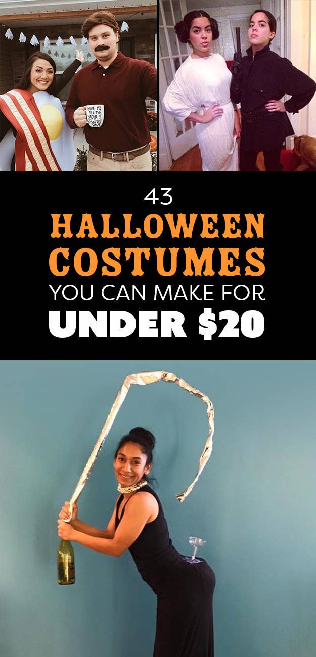 43 Halloween Costumes You Can Make For Under $20