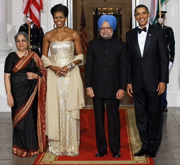 In Naeem Khan at the 2009 state dinner in honor of Indian Prime Minister Manmohan Singh.