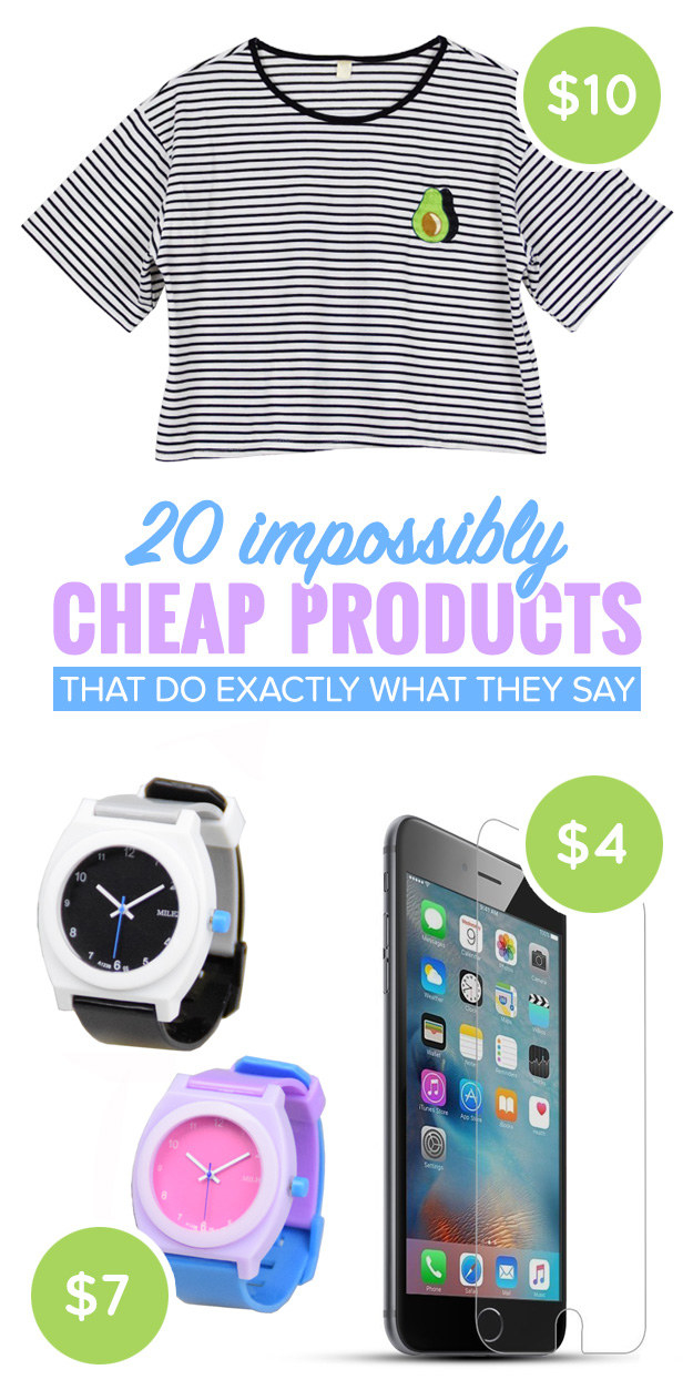 20 Impossibly Cheap Products That Do Exactly What They Say