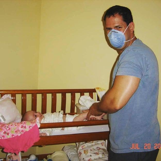 Este pai que toma as devidas precauções, mas mesmo assim termina o serviço.