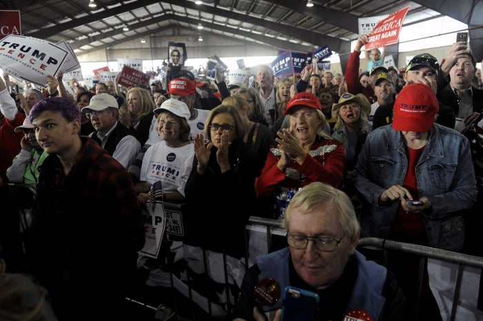 Supporters at a Donald Trump campaign rally at the Norris-Penrose Event Center in Colorado Springs, Colorado, on Oct. 18.