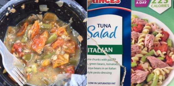 Cette belle salade de thon.