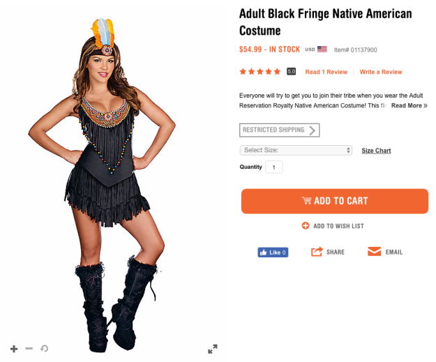 Indigenous communities have complained for years that these costumes are offensive, culturally appropriative, and that they sexualize a group of women who experience above-average levels of violence.
