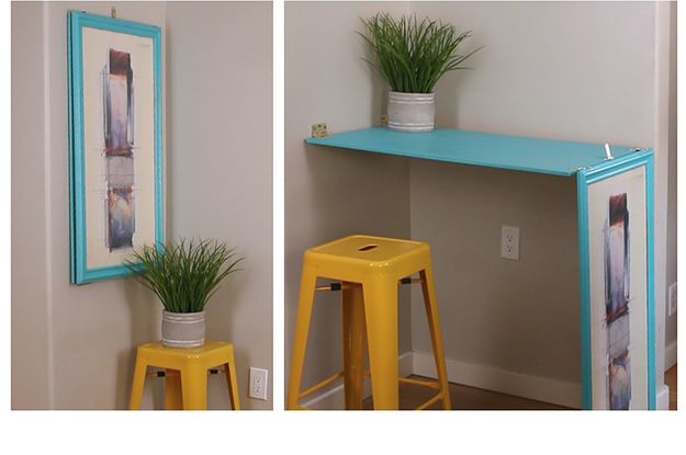 This Diy Turns Wall Art Into A Table