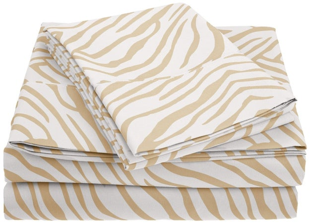 These animal print sheets that come in five WILD colors (I hate me, too).