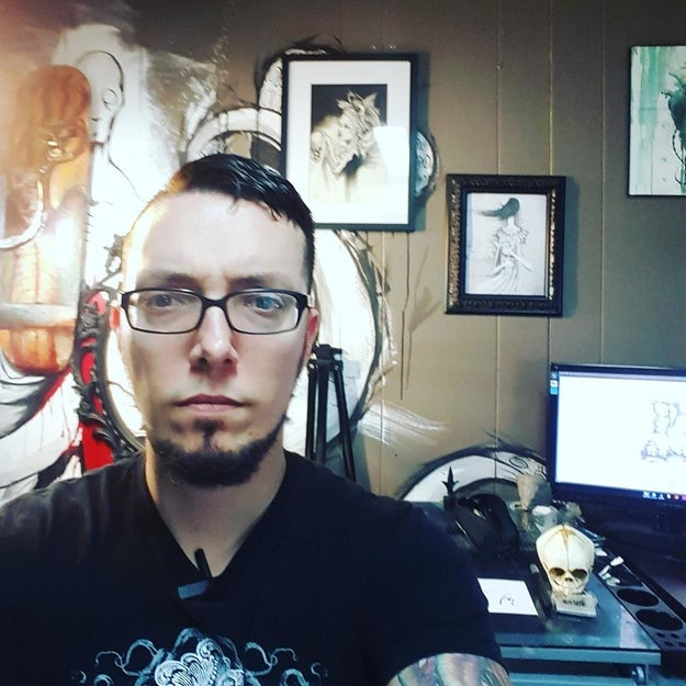 Shawn Cross is a 33-year-old professional artist from Ohio. This year, he is participating in art event known as Inktober. During Inktober, artists from all over the world make one ink drawing a day for the entire month of October.
