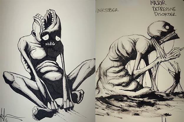 Artist With Autism Illustrates >> These Illustrations Of Mental Health Conditions Are Gorgeous