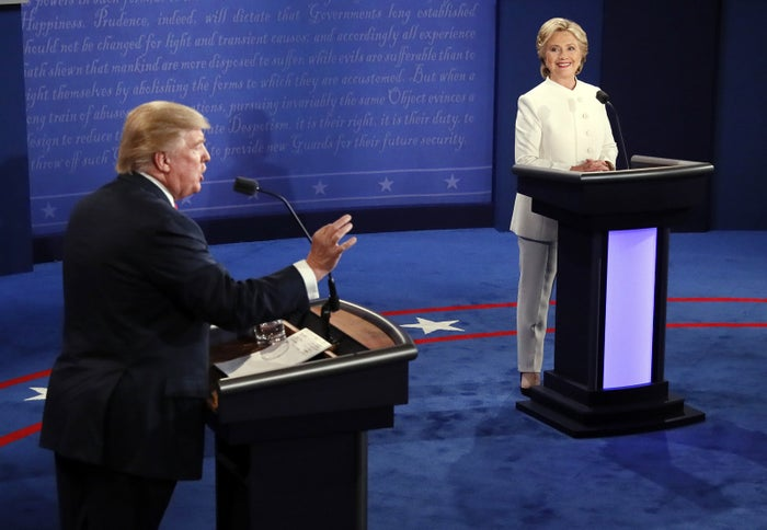 "The moment occurred when Clinton said Putin would ""rather have a puppet as president of the United States.""""You're the puppet,"" Trump retorted."