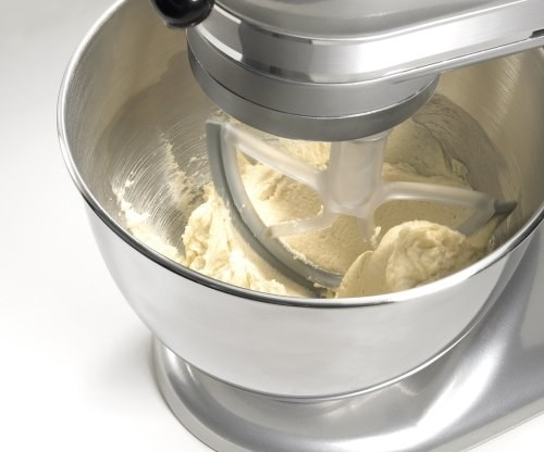 A stand mixer blade that scrapes the bowl down for you.