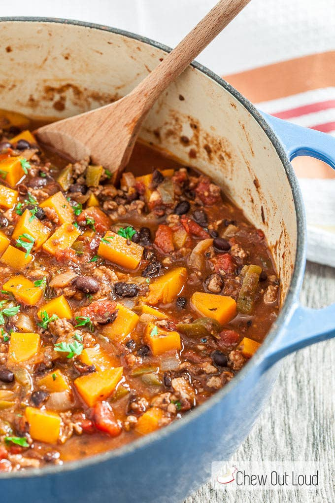 Chili is the perfect Sunday food this time of year, whether you're watching football or not. Add butternut squash for veggies, plus a subtle sweetness.Recipe: Butternut Squash Chili