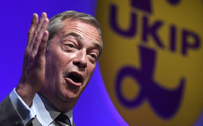 Nigel Farage, the outgoing leader of UKIP.