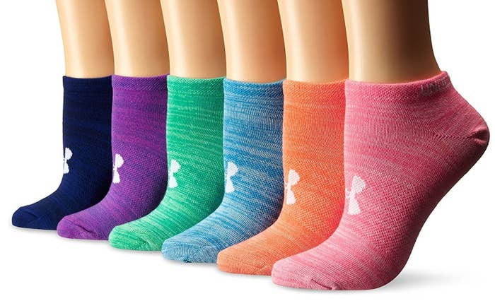 a5f31de1922 Thin athletic socks in a rainbow of colors.