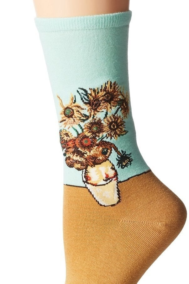 8524f254c Artistic socks when your feet want to Van Gogh somewhere.