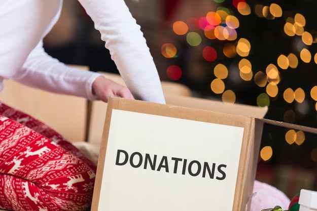 If you're buying gifts, consider donating some of your gently used items to charity.