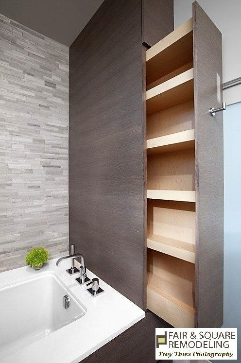 There are often plenty of unused crawl spaces and nooks in a home that can be creatively turned into organized storage.