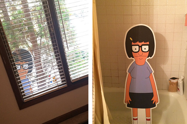 These Siblings Cant Stop Pranking Each Other With A Tina Belcher Cutout