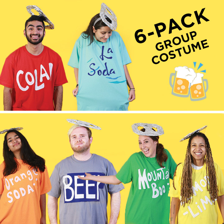 sc 1 st  BuzzFeed & Turn Your Squad Into A Six-Pack With This Group Halloween Costume