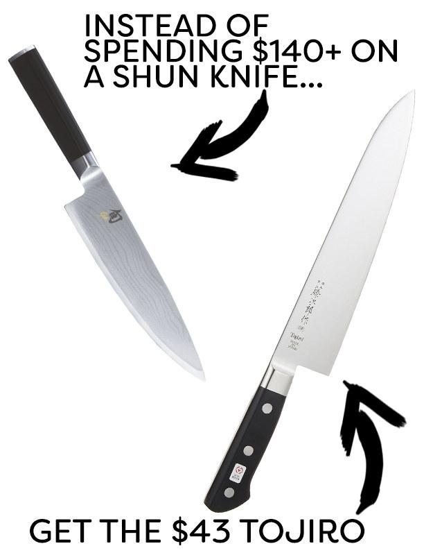 Instead of Shun kitchen knives, try Tojiro.