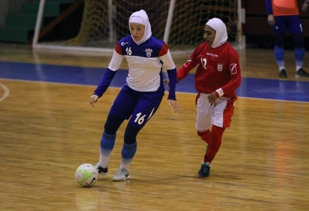 This week, the Russian national women's futsal team traveled to Tehran to play against the Iran's national team in friendly matches.