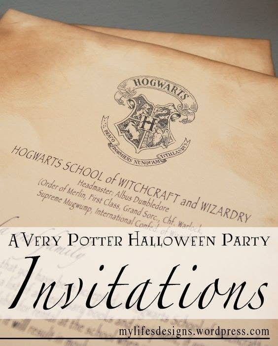 The ultimate harry potter halloween party the invitation letter stopboris Choice Image