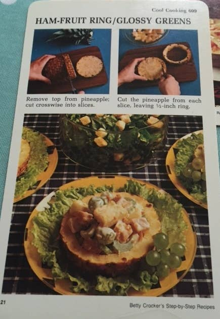 18 absolutely ridiculous recipes from the 1970s whats for dinner mum ham fruit ringglossy greens forumfinder Choice Image