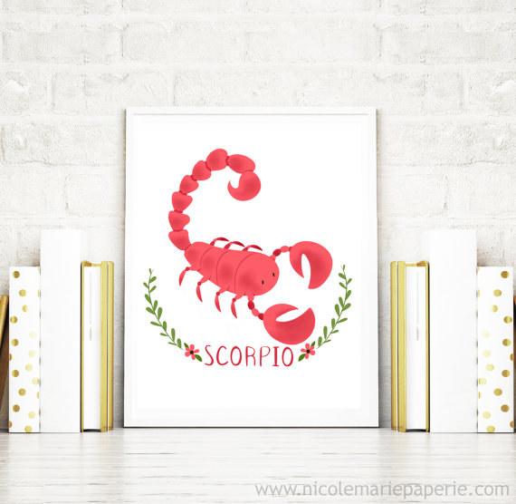 Scorpio Wall Print