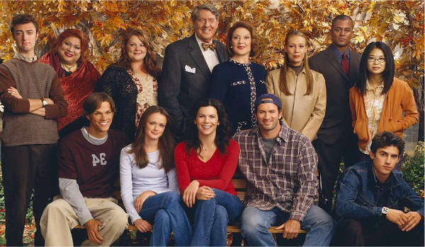 The entire cast of Gilmore Girls