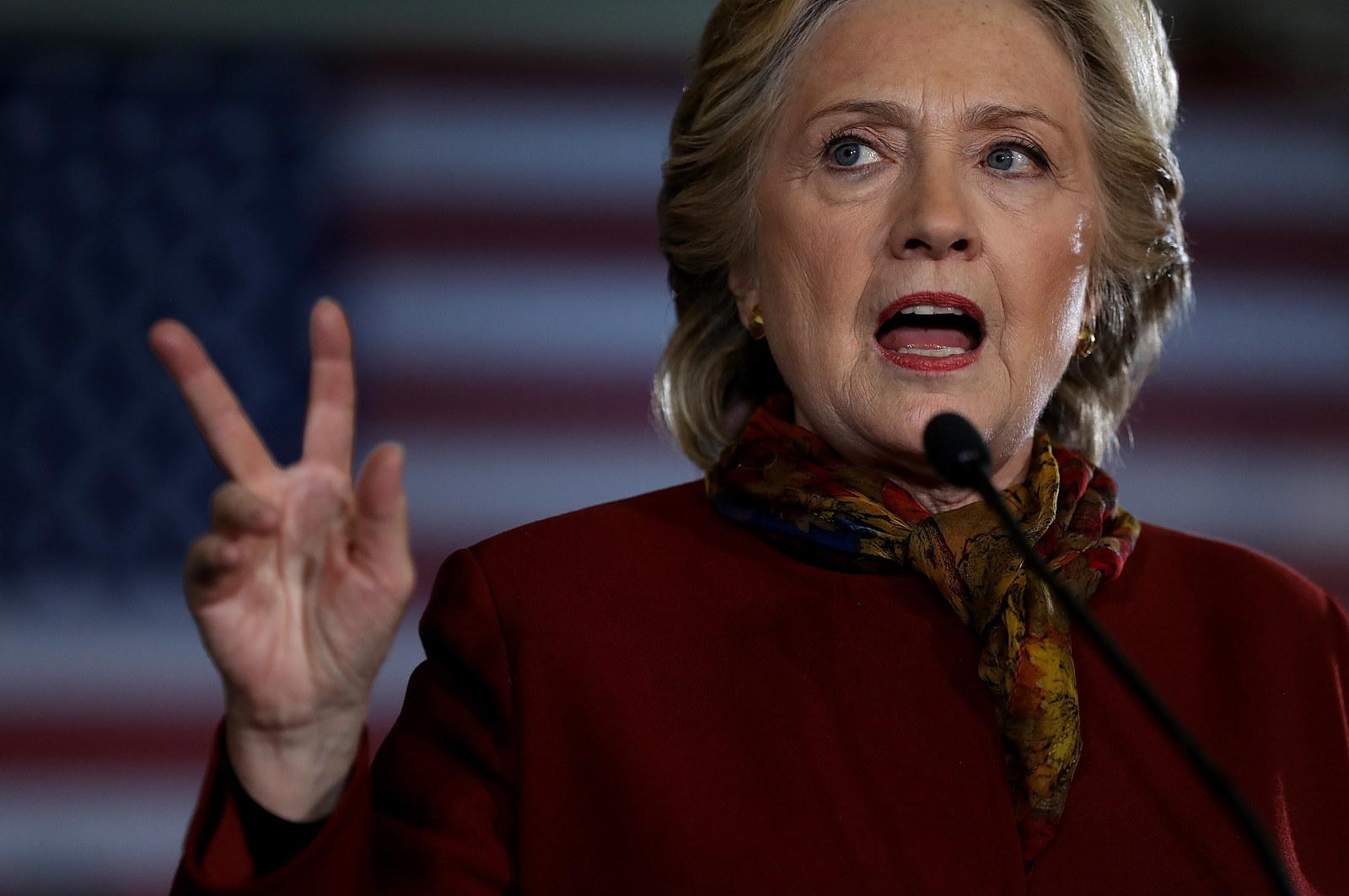 A First: Clinton Attacks A Down-Ballot Republican