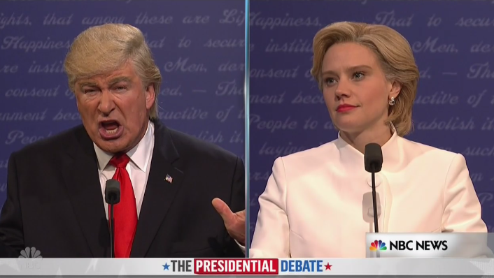 "A Bad Hombre And A Nasty Woman Debate Once Again On ""SNL"""