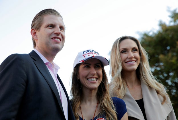 On Friday, Eric Trump and his wife Lara visited North Carolina to help drum up support for his dad.