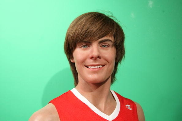 This wax figure of Zac Efron