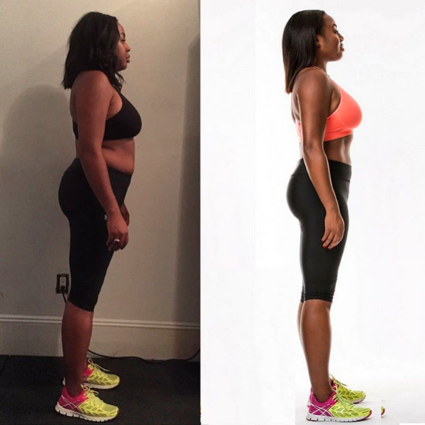 Author: Kéla WalkerOutlet: Kéla's KlosetKéla Walker, the stylish and funny fashion blogger, has made a major healthy lifestyle change and she's sharing bits of her journey on social media and her blog, Kéla's Kloset. She recently posted this pic above on Instagram to show her 7-week progress! On her blog, Waker writes that one way she's been maintaining her lifestyle is by cutting back on eating out and drinking with girlfriends. Instead, she's started what she calls healthy hangouts. She and her friends meet up for a physical activity, like SoulCycle or biking, and then they go grab some healthy grub. Read more about her healthy hangouts here.