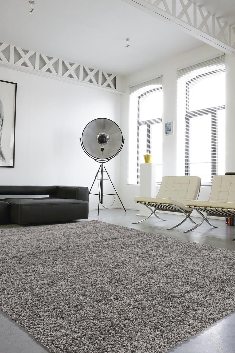 Soften A Large Area Underfoot With A Versatile Shag Rug.