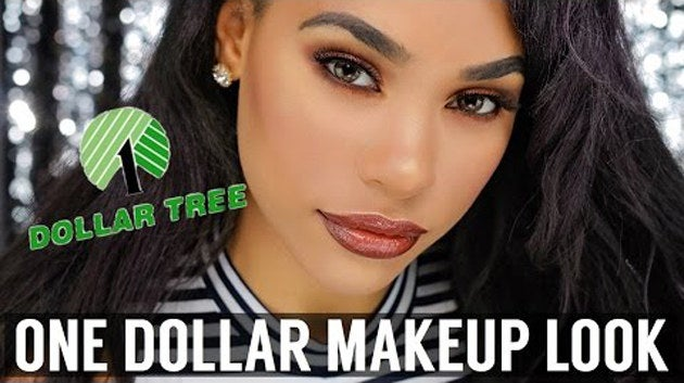 Channel: ItsMyRayeRayeOutlet: YouTubeThe goddess that is ItsMyRayeRaye managed to do this unbelievably stunning look with makeup from the Dollar Tree (with the exception of her faux lashes). Getting the right foundation coverage and match was slightly challenging in the beginning, but she managed to pull it off with a few adjustments. Watch her get the look and see which products she used here.