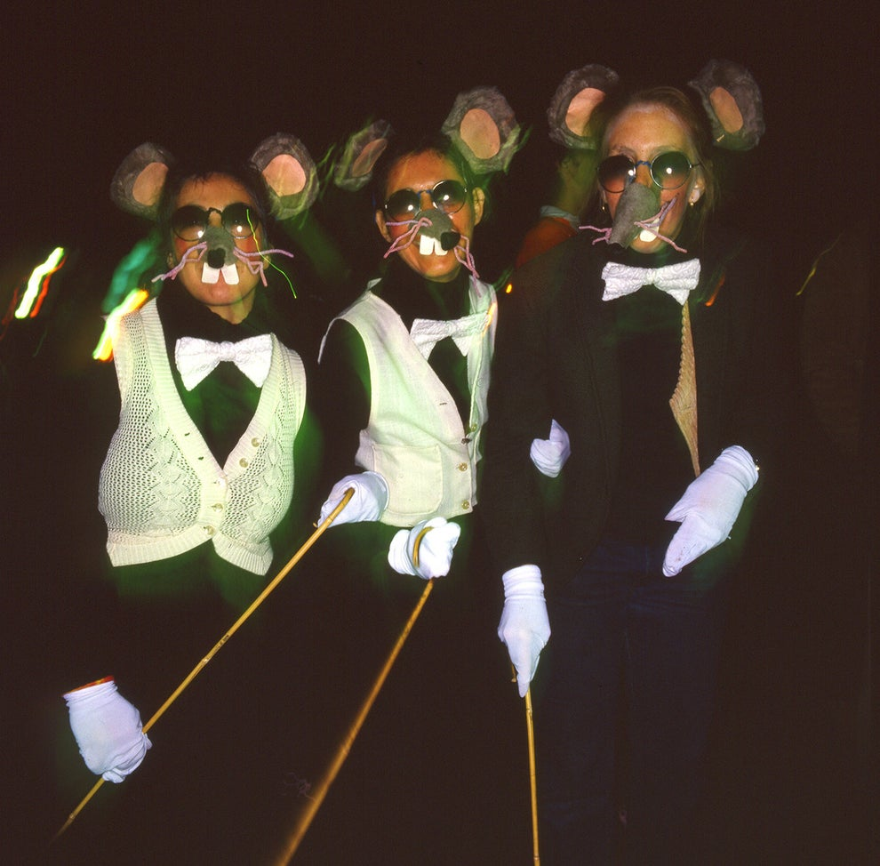 This trio of blind mice out for a night on the town...