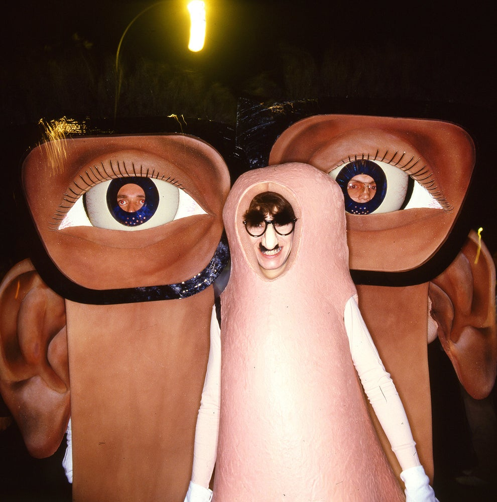 This epic group costume of two eyes and one very large nose (which is also sporting a large nose!).