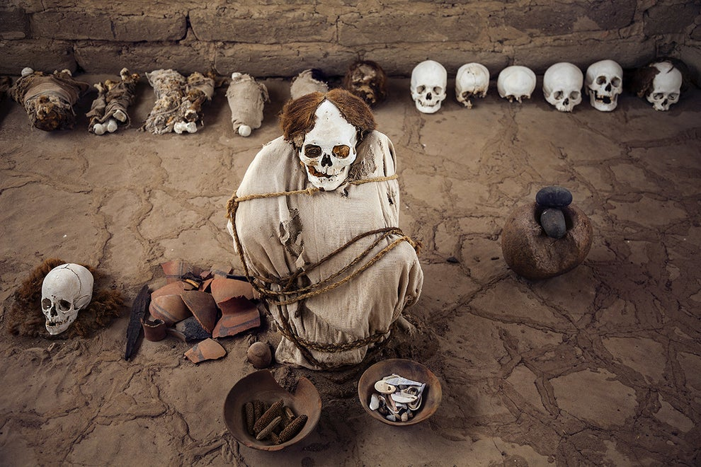 Chauchilla Cemetery near Nazca, Peru
