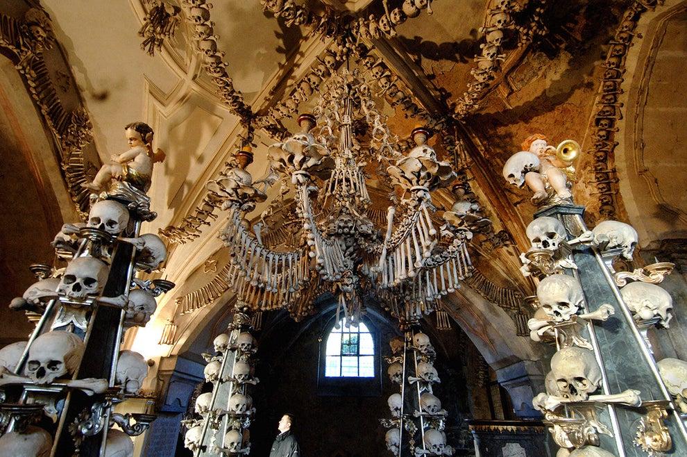The Sedlec Ossuary in Kutná Hora, Czech Republic