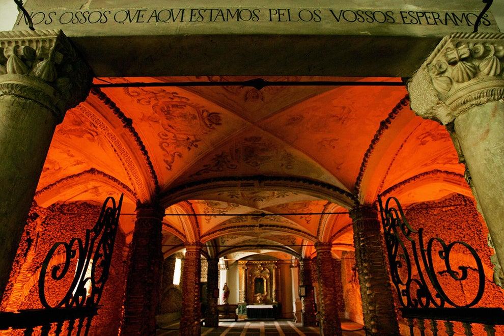 Capela dos Ossos near Lisbon, Portugal
