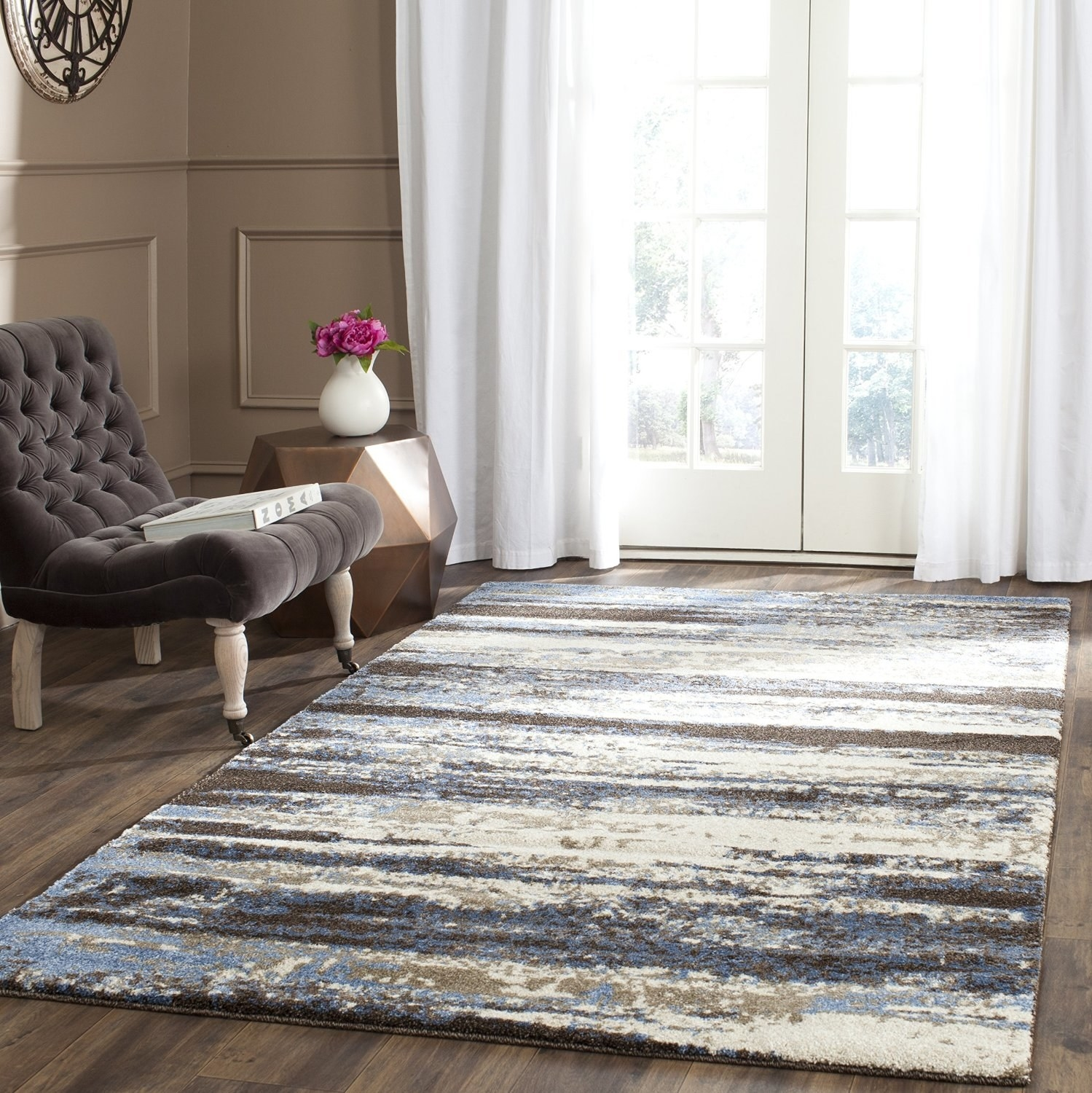 24. Make A Modern Statement With This Elegant Abstract Rug.